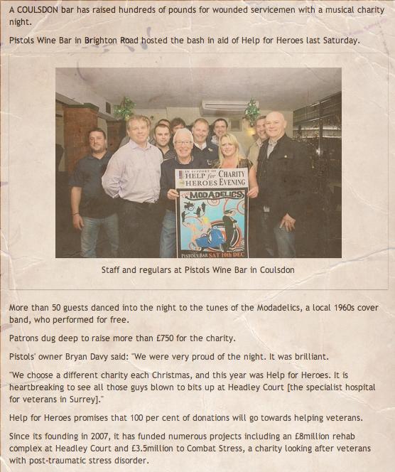 pistols charity